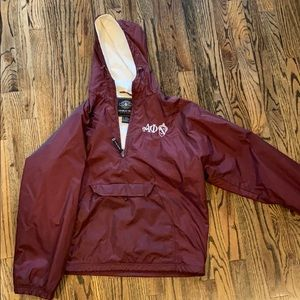 Alpha Phi Embroidered Rain Jacket Pullover